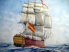 Hms Warrior, Sailboat Art, Nautical Art, Spanish Armada, Model Ship Building, Old Sailing Ships, Hms Victory, Ship Of The Line, Man Of War