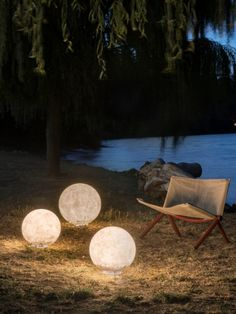 Ex. Moon - Gineico Lighting Ex. Moon is part of the Out Collection. Crafted from fibreglass the Ex. Moon outdoor floor or table light is rated IP65 suitable for exterior use.  The white colour fibreglass lamp shade is reminiscent of a Japanese rice paper sphere, incredibly durable and is perfect for outdoor landscaping in both hospitality and residential applications. Modern Lighting, Outdoor Lighting, Outdoor Flooring, Outdoor Landscaping, Rice Paper, Outdoor Rooms, Light Table, Landscape Architecture, Wall Lights