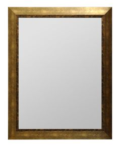 Amazon.com: Wood Frame Modern Wall Mirror, Rectangle, Antique Gold Finish, (30x20): Home & Kitchen