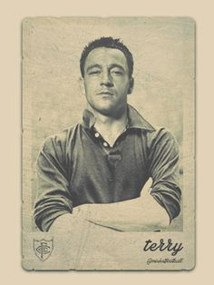Old football cards - JT style! Football Icon, Retro Football, Football Art, Chelsea Football, Football Stuff, Soccer Art, Soccer Poster, Chelsea Fc Players, Chelsea Champions