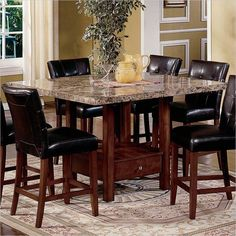 Small Kitchen Tables And Chairs Small Kitchen Table And Chairs High Top Kitchen Table Set Granite Top Kitchen Table Tops High Small Round Kitchen Table And Dining Table With Storage, Pub Table Sets, Dining Room Sets, Dining Room Design, Dining Room Furniture, Dining Room Table, Pub Tables, Furniture Ideas, Dining Decor