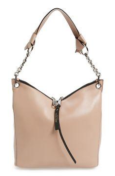 4ea3af3d4570  Small Raven  Nappa Leather Shoulder Bag