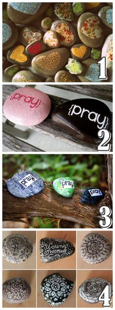 Prayer Rocks / girls camp craft!