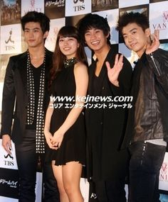 """KEJ Press - Photo News >> Kim Soo-Hyun, and Suzy Assemble at """"Dream High's"""" Press Conference in Japan My Love From The Star, Dream High, 2 Boys, Boys Over Flowers, Korean Music, Press Photo, Music Industry, Suzy, Falling In Love"""