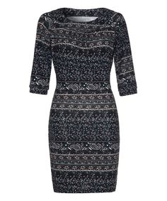 Look at this Green & White Paisley Sheath Dress on #zulily today!
