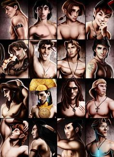 Sexy versions of disney princes... super funny!  Lol, its still the geeky one that really catches me! Milo Thatch ;) Not that the others are half bad ;)