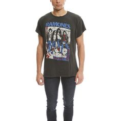 MadeWorn Ramones Group Tee ($160) ❤ liked on Polyvore featuring mens, men's clothing, men's shirts, men's t-shirts, men and tees