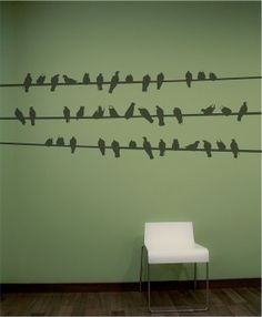 Birds on a wire Wall Decal Wall Sticker by decoryourwall on Etsy,