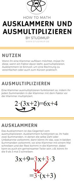 Exclude brackets correctly and multiply. Math just explained and l . - Exclude brackets correctly and multiply. Maths explained and easy to learn. Learn math in high scho - School Hacks, I School, Middle School, Math 8, Math Vocabulary, German Language Learning, Gymnasium, Learn German, Science