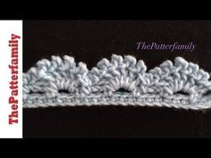How to Crochet the Edge / Border / Trim Stitch Pattern #40│by ThePatterfamily - YouTube