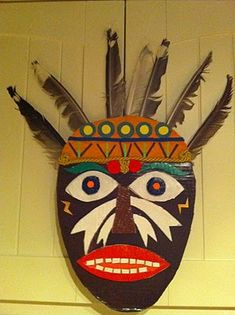 african mask craft idea for kids | toilet paper roll crafts ...