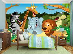 Cartoon Zebra Lion Girraffe & Friends
