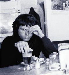 Jim Morrison having breakfast
