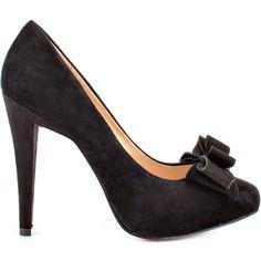 Paris Hilton Women's Amelie - Black Black Suede ($95) ❤ liked on Polyvore