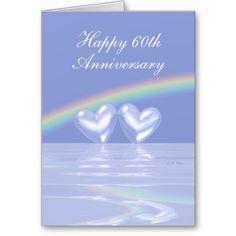 60th Wedding Anniversary Mom Dad Purple Rose Card 60 Wedding