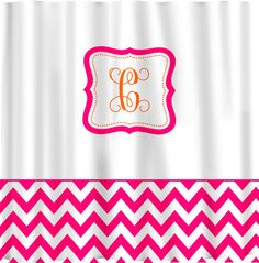 Items similar to Custom Shower Curtain -Color with White and accent if desired - with or without monogram on Etsy Chevron Curtains, Colorful Curtains, Extra Wide Curtains, Girl Bathrooms, Custom Shower Curtains, Accent Colors, Girl Room, Color Change, Monograms