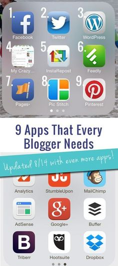 The 9 Must-Have Apps for Bloggers | Blogging Tips | Blogging Apps