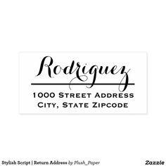 Stylish Script | Return Address