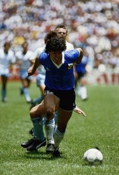 Maradona in action, World Cup '86 v England.