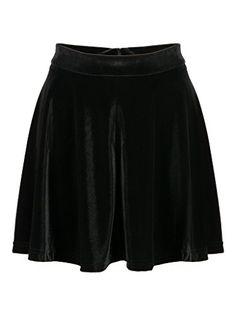 8921320e1a Charles Richards Womens Basic Solid Versatile Flared Black Casual Mini  Skater Skirt ** For more
