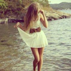 long hair cute dress <3 <3