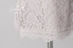 Please follow us on Instagram and Facebook! @ BaileyCollection  Love N Lace Dress in White This listing is for the WHITE dress. If you would like to purchase the pink dress please visit here: https://www.etsy.com/listing/250226486/pink-lace-flower-girl-dress-vintage-lace?ref=shop_home_active_1  This dress is perfect for the rustic country, vintage and chic flower girl dresses. It is simply beautiful! Lace dress and sleeves. Delicate scalloped detail along the sle...