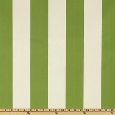 Premier Prints Indoor/Outdoor Vertical Stripe Greenage - Discount Designer Fabric - Fabric.com (water resistant for placemats - coordinates w/green ticking stripe for cafe curtains)