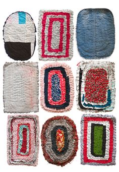 Fine Little Day: The Sri Lankan floor mats are such treats. Old, worn, discolored textiles gets new life as colorful texile cakes.