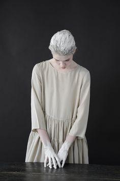 Egg   seven casey casey silk dress beige