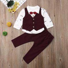 US Toddler Baby Kid Boy Tuxedo Suit Shirt Waistcoat Pants Formal Outfits Clothes Boys Tuxedo, Tuxedo Suit, Dance Outfits, Boy Outfits, Formal Outfits, Kids Boys, Baby Kids, Baby Boy, Valentines Outfits