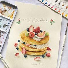 又是繽紛草莓季節️ 明天台北上課盡量不遲到喔,很怕大家畫不完 週日Facebook粉絲頁來玩抽獎活動吧,有我愛用的水彩顏料、水彩筆! #watercolor#Illustration#illustrator#art#article#artwork#workshop#paint#drawing#taiwan#taipei#teatime#pancake#cake#strawberry#blueberry#煎餅#鬆餅#草莓#藍莓#水彩#插畫#雪莉畫日誌#dessert
