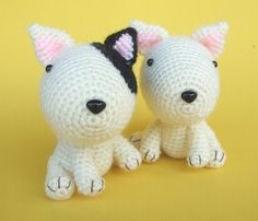 Bull Terrier chiot  PDF Crochet Pattern par jaravee sur Etsy