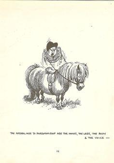 1962 Thelwell Cartoon Print Ponies Horses by printsandpastimes