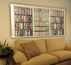 cd/dvd storage idea. Would be great above a couch in my (future) finished basement ;)