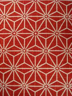crystilogic: Japanese Asa-no-ha fabric pattern, photo by Neville Trickett