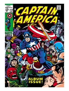 Marvel Comics Retro: Captain America Comic Book Cover #112, Album Issue! Art Print  Auction your comics on http://www.comicbazaar.co.uk