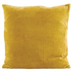 Velv Cushion Cover 50x50cm, Yellow, House Doctor $35