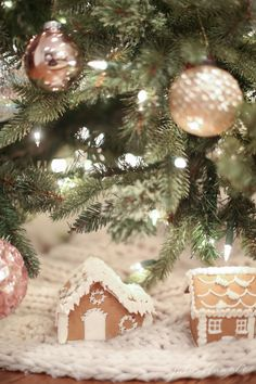 Incorporate a bit of whimsy in your Christmas decorating. Julie Blanner updated her holiday decor with soft blushes and metallics. Click to find out how Julie created a nostalgic feeling in her family room for the holidays.