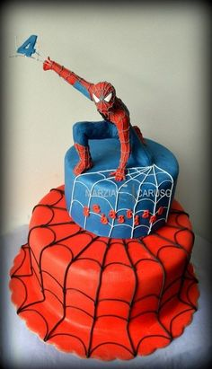 Spiderman Cake Ideas for Little Super Heroes - Novelty Birthday Cakes Spiderman Birthday Cake, Superhero Cake, 4th Birthday, Birthday Cupcakes, Marvel Cake, Character Cakes, Novelty Cakes, Occasion Cakes, Cakes For Boys