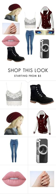 """Untitled #332"" by jazel117 on Polyvore featuring Topshop, Timberland, Sole Society, LE3NO, Casetify and Lime Crime"