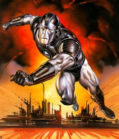 Vintage Geek Culture — War Machine by Boris Vallejo, Boris Vallejo, Marvel Comics Art, Marvel Heroes, Marvel Avengers, Comic Book Artists, Comic Books Art, Comic Art, Superhero Villains, Marvel Characters