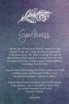Affirmation - Gentleness by CarlyMarie Authenticity, Chalkboard Quotes, Art Quotes