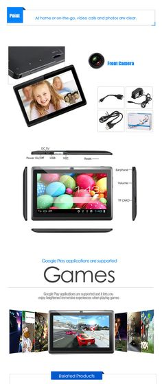 "A13 7"" Capacitive Touch Screen Android 4.0 Tablet PC w/ TF / Camera / Wi-Fi / G-Sensor - Black from 59,- for Euro 37,85"