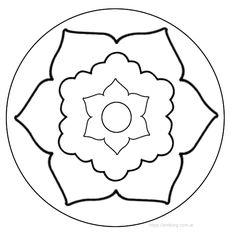 10 Mandalas fáciles para colorear, tanto para principiantes, como para los niños y para adultos que quieran comenzar a colorear