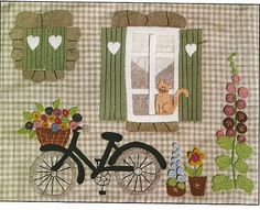 From l'Atelier d'Isabelle, beautiful patchwork and felt kits. Wool Applique, Applique Patterns, Applique Quilts, Applique Designs, Embroidery Applique, Fabric Art, Fabric Crafts, Sewing Crafts, Small Quilts