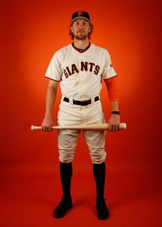 Hunter Pence #8 of the San Francisco Giants poses for a portrait during spring training photo day at Scottsdale Stadium on February 27, 2015 in Scottsdale, Arizona. (February 26, 2015 - Source: Christian Petersen/Getty Images North America)