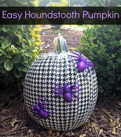 Duck Tape Houndstooth Pumpkin