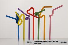 Canudo artístico Strawplast
