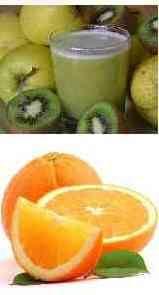 Apple, Lemon, Kiwi, and Celery Juice for Common Cold treatment.