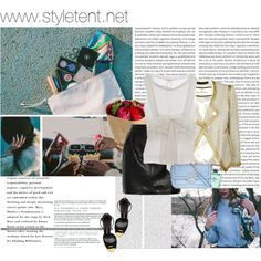Designer Clothes, Shoes & Bags for Women Vanessa Bruno, Malene Birger, Tom Ford, Cocktail, Ruffle Blouse, Chanel, Girls, Polyvore, Blue